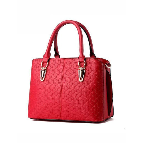 Embossed Pu Shoulder Bag