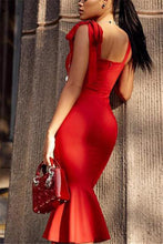 Load image into Gallery viewer, The Temperament Retro Sexy Bag Hip Dress