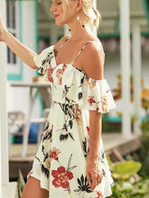 Load image into Gallery viewer, Sexy Floral Printed Vacation Dress