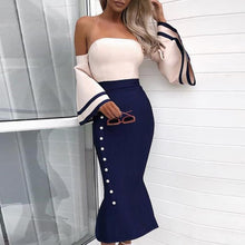 Load image into Gallery viewer, Sexy Off-The-Shoulder Fishtail Bodycon Dress