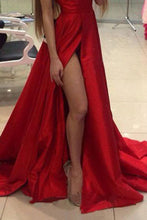 Load image into Gallery viewer, Sexy Red Sleeveless Plain Evening Dress