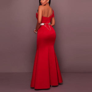 Sexy Sleeveless Backless Fishtail Evening Dress