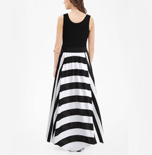 Load image into Gallery viewer, Sexy Striped Vest Evening Dress