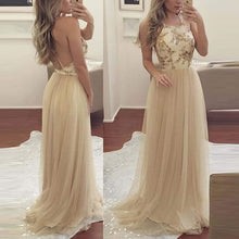 Load image into Gallery viewer, Sexy Yellow Backless Chiffon Wedding Maxi Dress