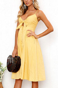 Spaghetti Strap  Single Breasted  Bust Darts  Plain  Sleeveless Maxi Dresses