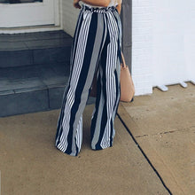 Load image into Gallery viewer, Striped Casual Straight Leg Pants
