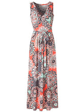 Load image into Gallery viewer, Surplice  Belt  Printed Maxi Dress