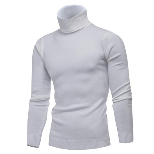 Fashion leisure pure color turtleneck sweater