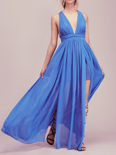 Load image into Gallery viewer, V-Neck  Plain Maxi Dress