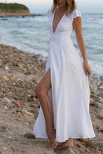 Load image into Gallery viewer, Fashion Deep V Collar Belt Bohemia Beach Maxi Dress
