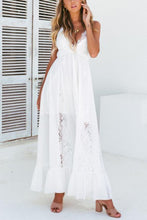 Load image into Gallery viewer, Sexy Lace Backless Vacation Maxi Dress