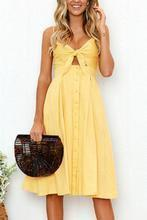 Load image into Gallery viewer, Spaghetti Strap  Single Breasted  Bust Darts  Plain  Sleeveless Maxi Dresses