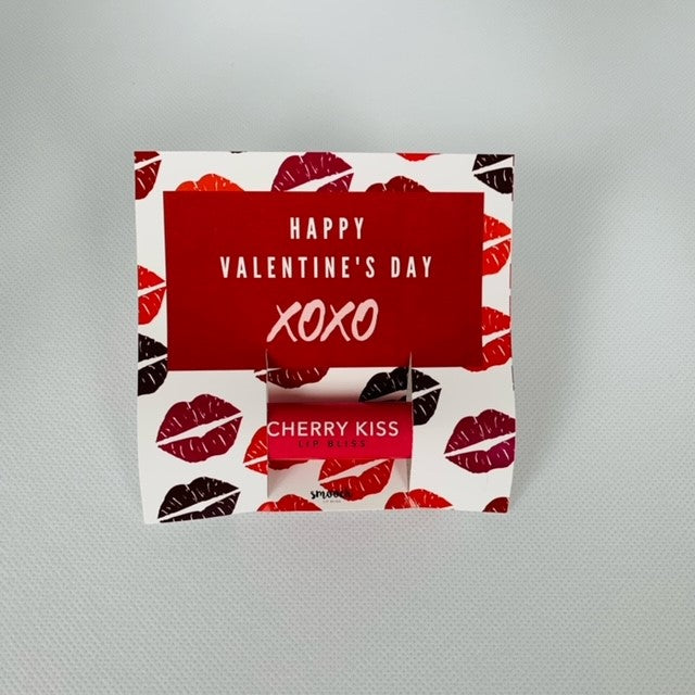 XOXO Valentine with Cherry Kiss Lip Bliss