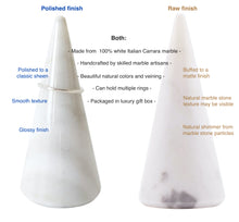 Ring Holder Cone - Genuine Marble