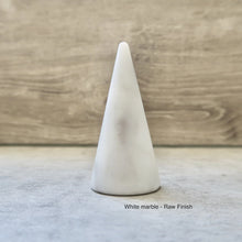 Load image into Gallery viewer, Ring Holder Cone - Genuine Marble
