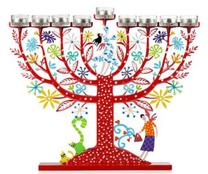 Menorah Red