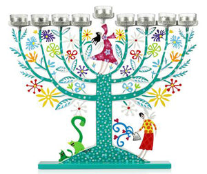 Menorah Teal