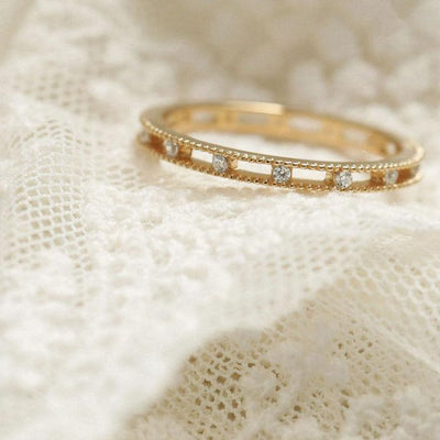 Gold Vermeil Dainty Double Band Ring