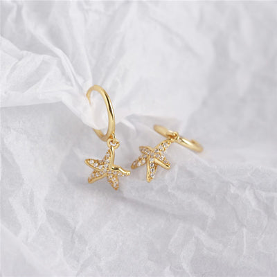 Starfish Pavè Earrings