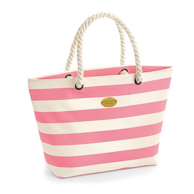 Nautical Stripe Tote With Rope Handle