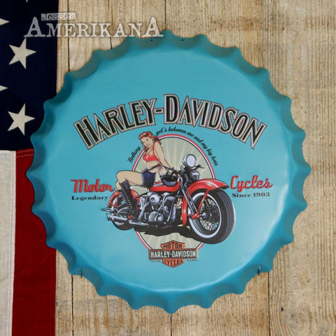 Capsule En Relief 40Cm Harley-Davidson Pin-Up