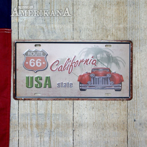 Plaque Métal 30X15 California Route 66