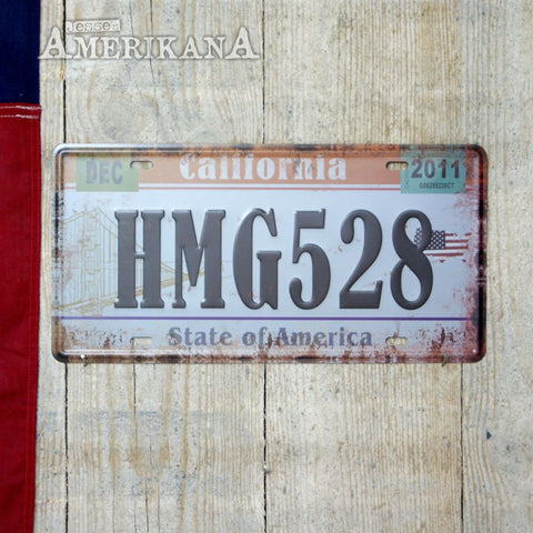 Plaque Métal 30X15 License California