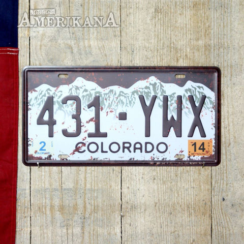 Plaque Métal 30X15 License Colorado