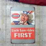 Plaque Métal 30X20 Amoco Uncle Sam