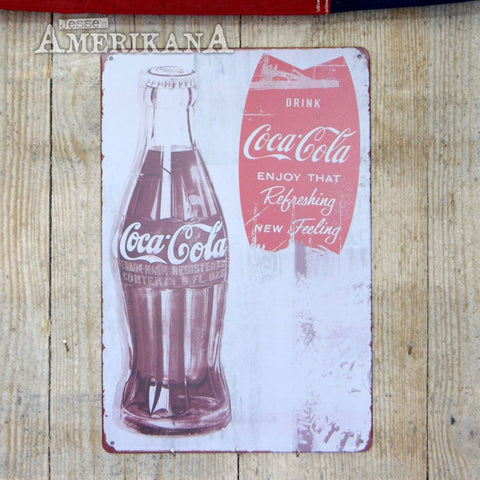 Plaque Métal 30X20 Coca-Cola Scratched Tag