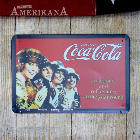 Plaque Métal 30X20 Coca-Cola Seasons