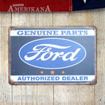 Plaque Métal 30X20 Ford Authorized Dealer