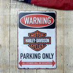 Plaque Métal 30X20 Harley-Davidson Parking