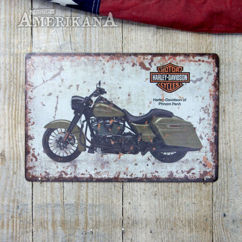Plaque Métal 30X20 Harley-Davidson Road King