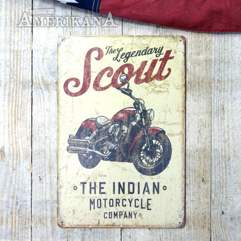 Plaque Métal 30X20 Indian Scout