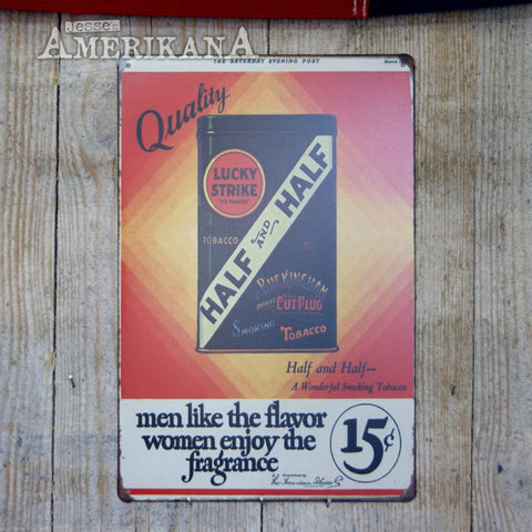 Plaque Métal 30X20 Lucky Strike Tin
