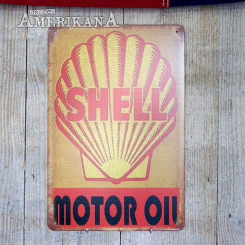Plaque Métal 30X20 Shell Motor Oil
