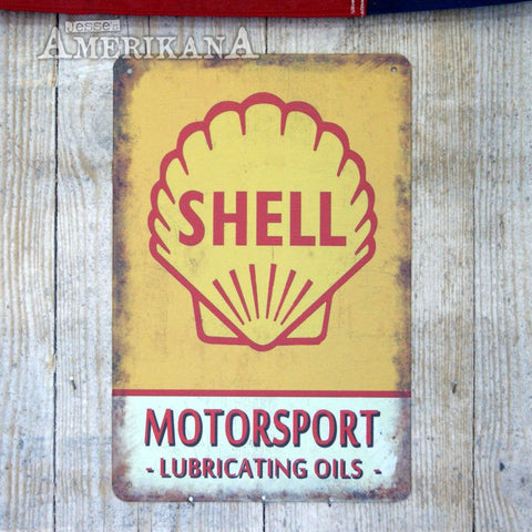 Plaque Métal 30X20 Shell Motorsport Oils