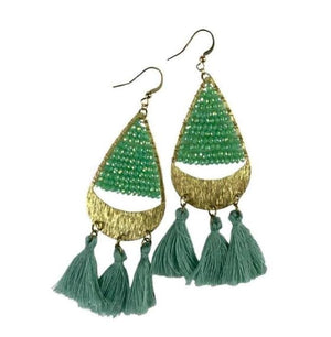 Karol Green Beaded Earrings