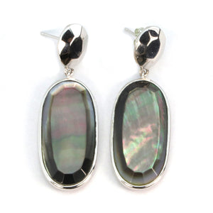 Abalone Sterling Silver Earrings by Elle