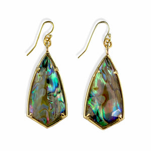Lilly Abalone Earrings in Gold Sterling Silver