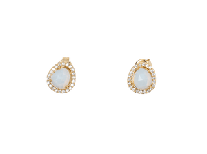 Baby Moonstone Studs in Gold