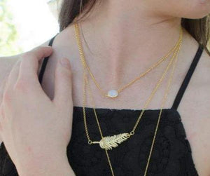 Abigail Feather Necklace