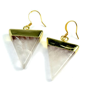 Katie Gemstone Triangle Earrings