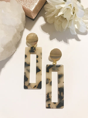 Heather Rectangle Resin Earrings
