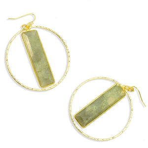 Alexa Labradorite Hoop Earrings