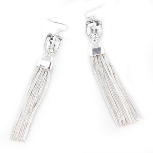 Audrey Silver Tassel Earrings