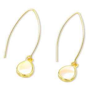 Adeline Marquise Mother of Pearl Earrings