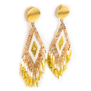 Anitha Beaded Earrings in Gold