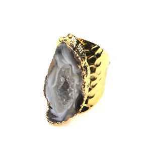Baily Geode Druzy Ring